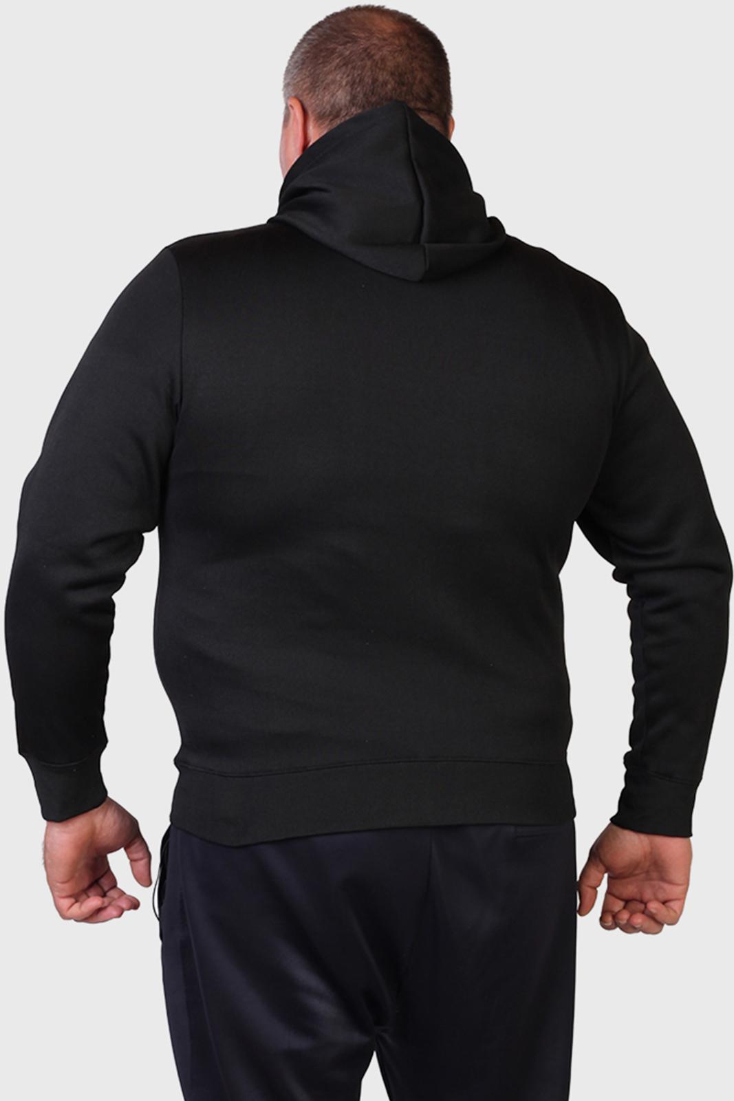 Черная толстовка с капюшоном для мужчин
