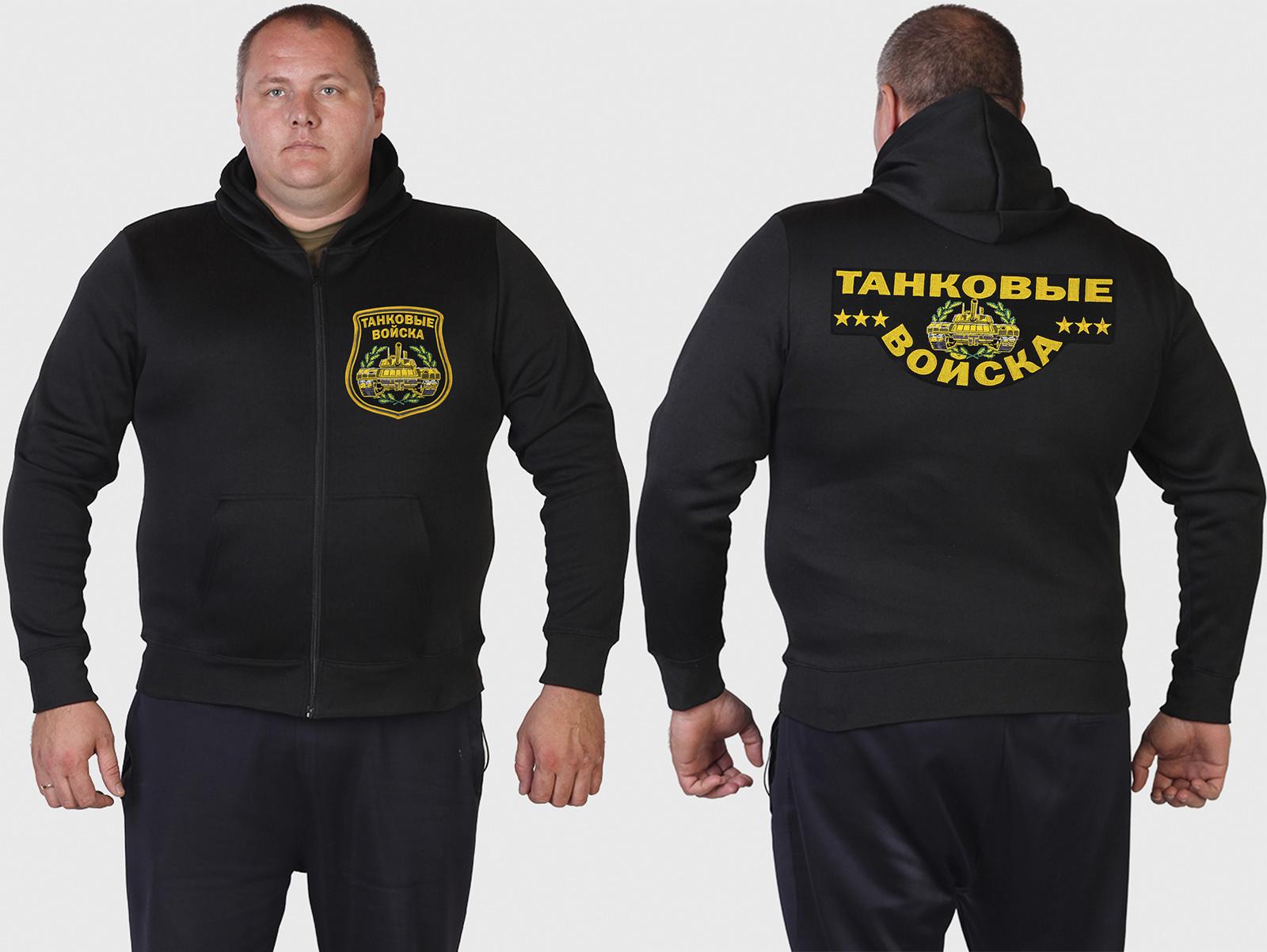 Черная милитари толстовка – годный подарок танкисту!