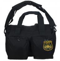 Черная военная сумка-рюкзак с нашивкой Танковые Войска