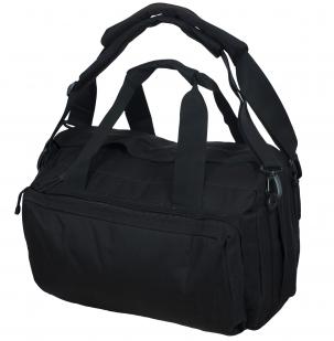 Черная военная сумка-рюкзак с нашивкой Танковые Войска - купить онлайн