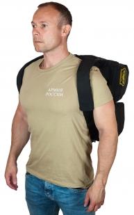 Черная военная сумка-рюкзак с нашивкой Танковые Войска - купить по низкой цене