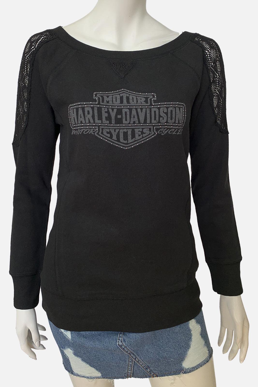 Черная женская кофточка от Harley-Davidson