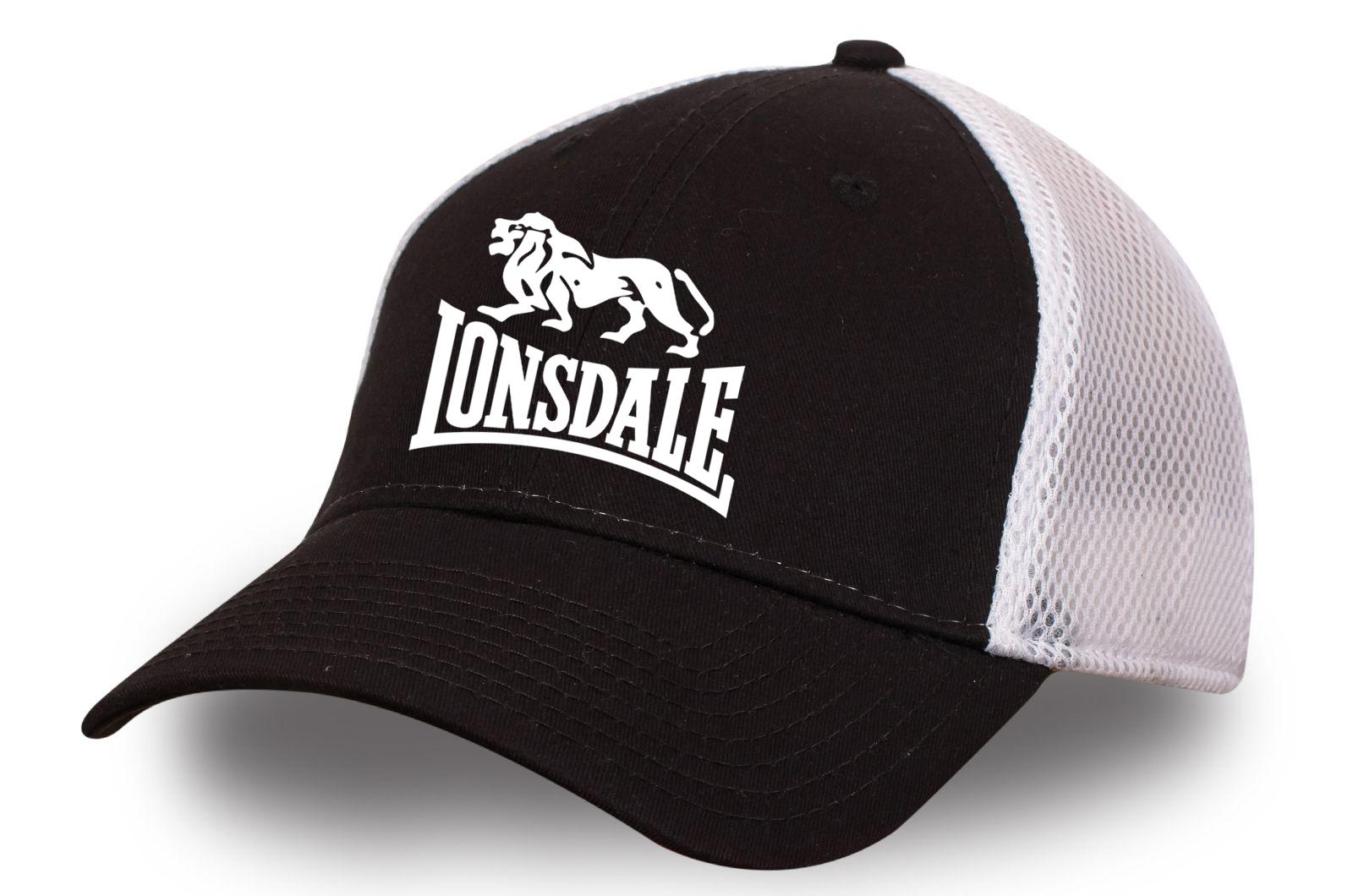 Черно-белая бейсболка Лонсдейл
