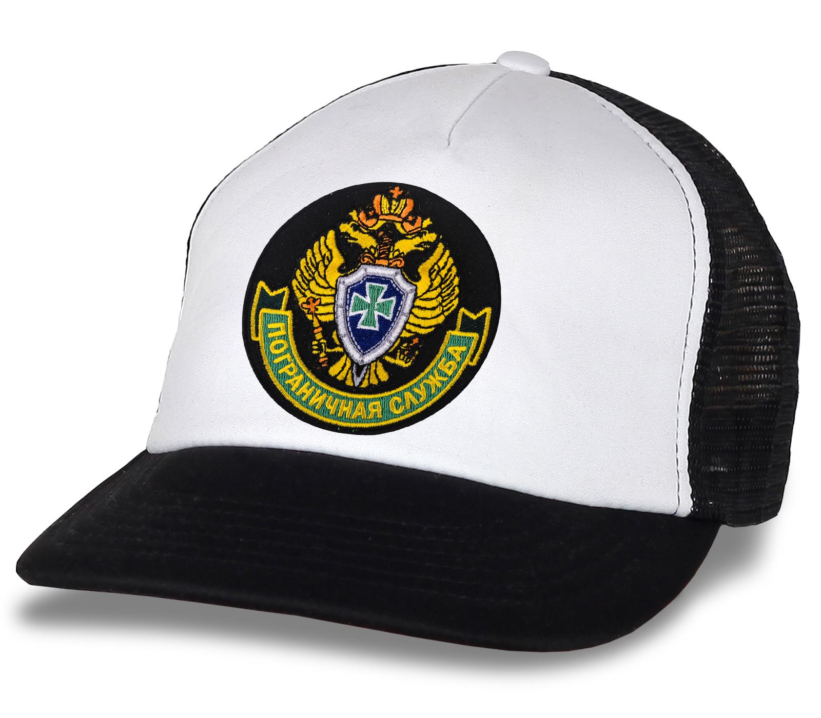Черно-белая кепка-тракер с эмблемой ПС ФСБ России