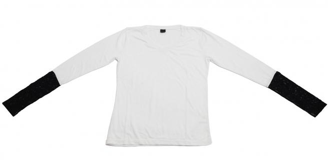 Черно-белая кофточка из 100% хлопка. Универсальная модель