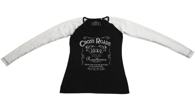 Черно-белая кофточка Panhandle Slim с тематическими надписями