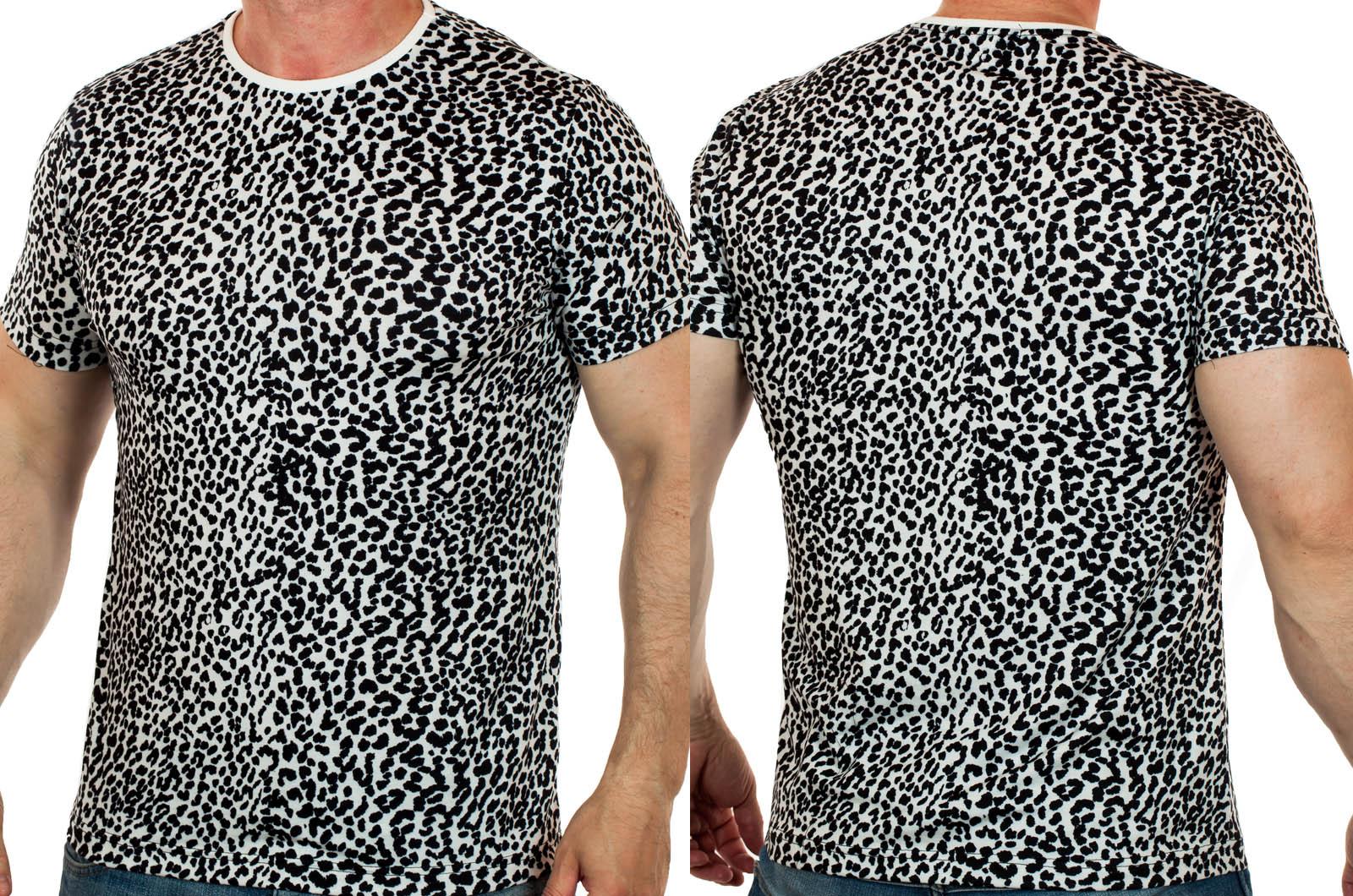 Черно-белая мужская футболка Splash – СТИЛЬ без дешёвого выпендрёжа