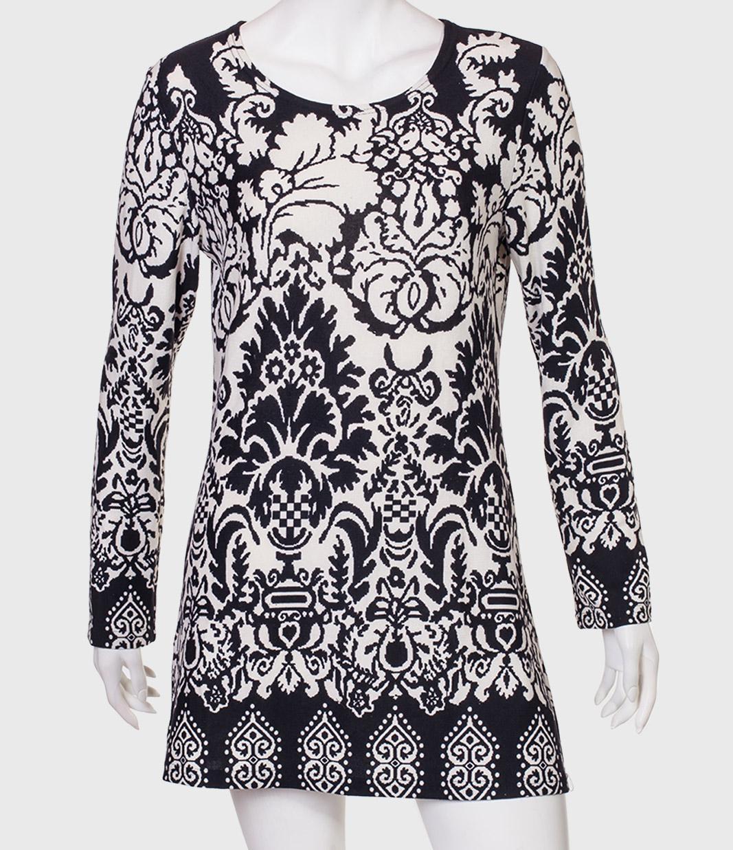 Купить черно-белое платье от бренда Nostalgia