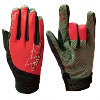 Черно-красные байкерские перчатки от Comforts shield