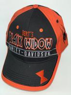 Черно-оранжевая бейсболка Harley-Davidson с вышитым пауком