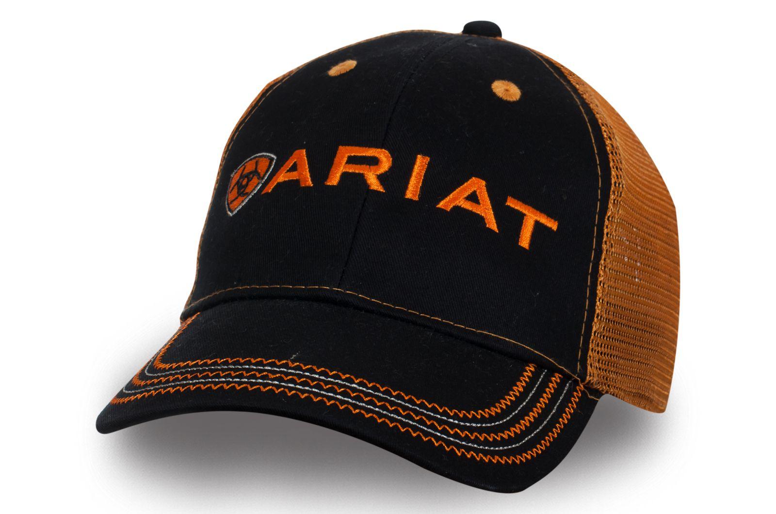 Черно-оранжевая бейсболка   Купить мужские бейсболки