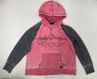 Черно-розовое женское худи