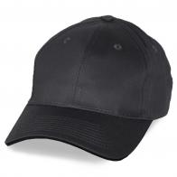 Черно-серая бейсболка под печать эмблем