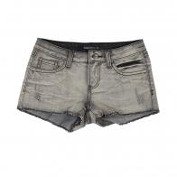 Черно-серые женские джинсовые шорты Semir Jeans.