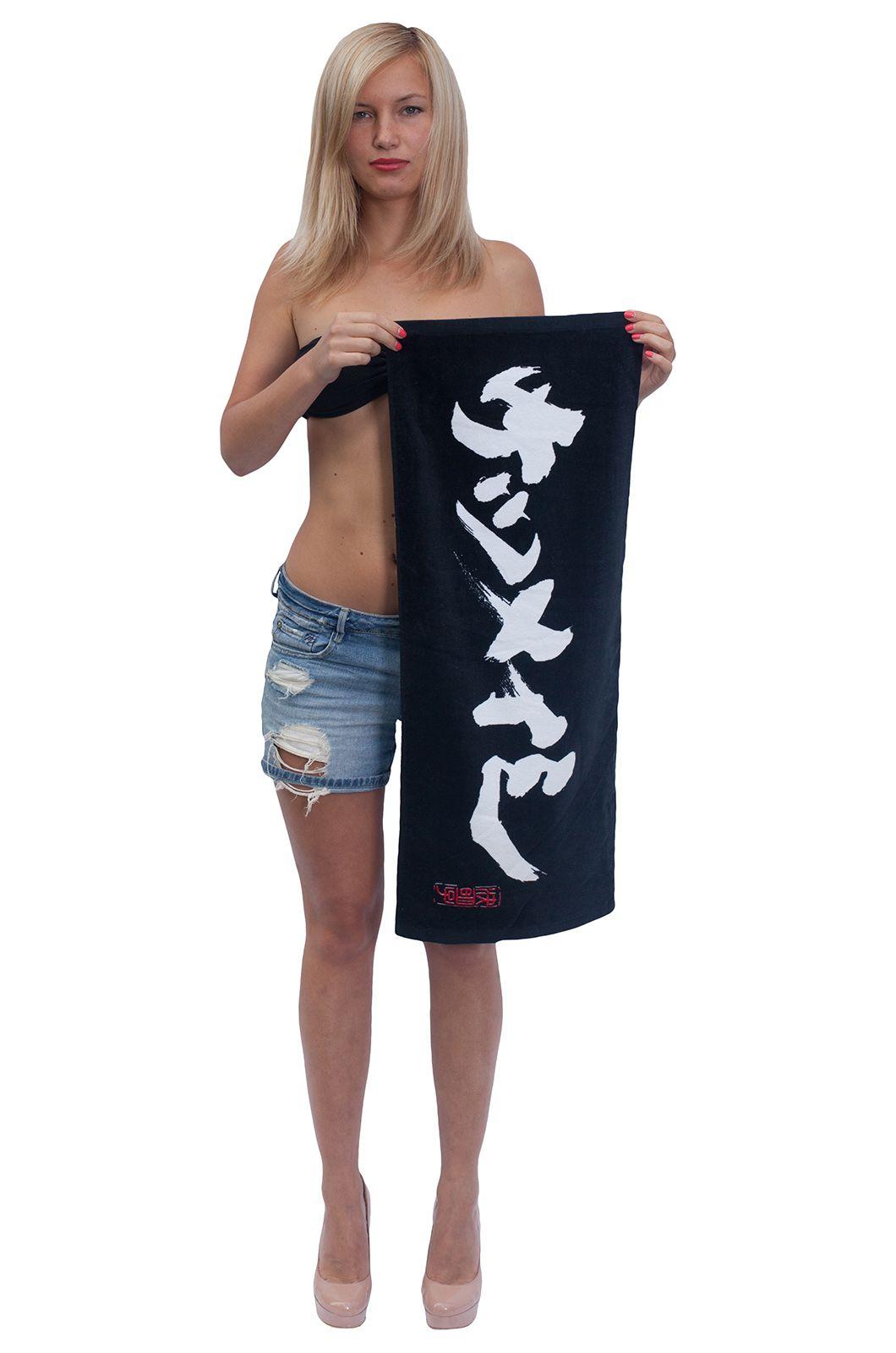 Черное махровое полотенце - купить с доставкой по России