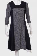 Черное платье с серыми вставками от бренда Marie Claire