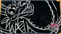 Черное полотенце с драконом