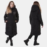 Черное стеганое пальто Review (Австралия).