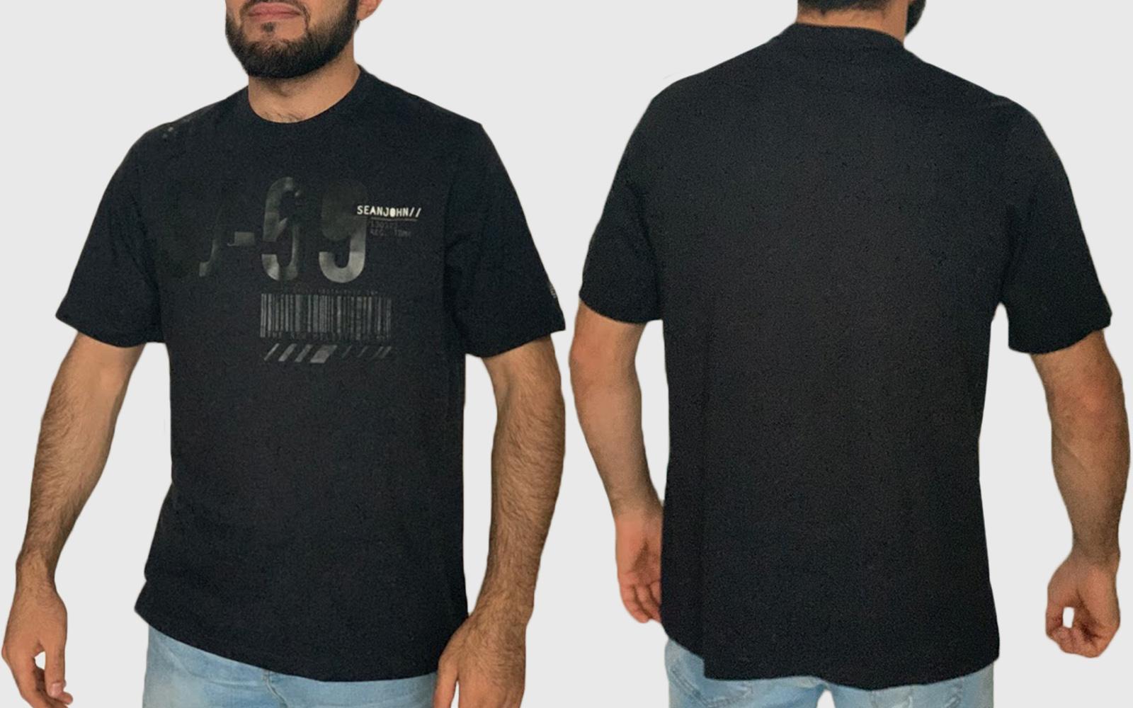 Черная мужская футболка Sean John