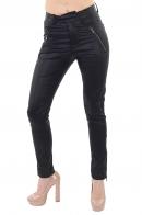 Черные женские брюки дудочки