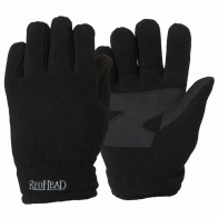Черные флисовые перчатки Red Head