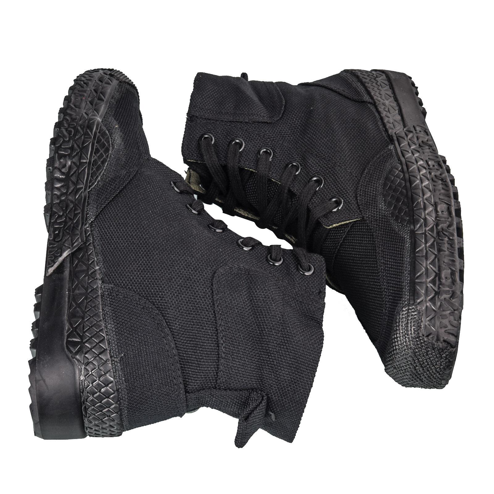 Черные летние тактические ботинки с нескользящей подошвой