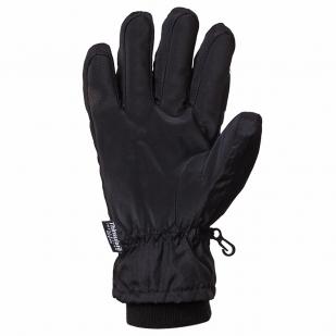 Черные лыжные перчатки Thinsulate insulation (на флисе)
