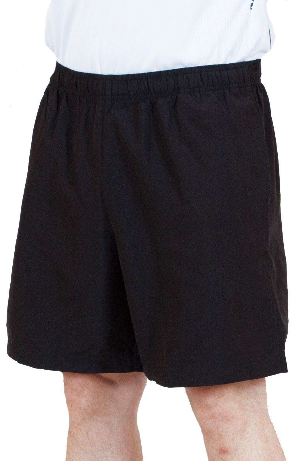 Черные мужские шорты спортивного стиля