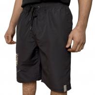 Черные мужские шорты с принтом волков Septwolves
