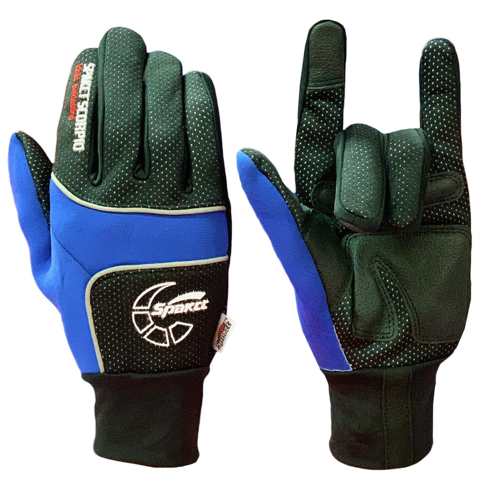 Эксклюзивные перчатки от Spakct с синими вставками