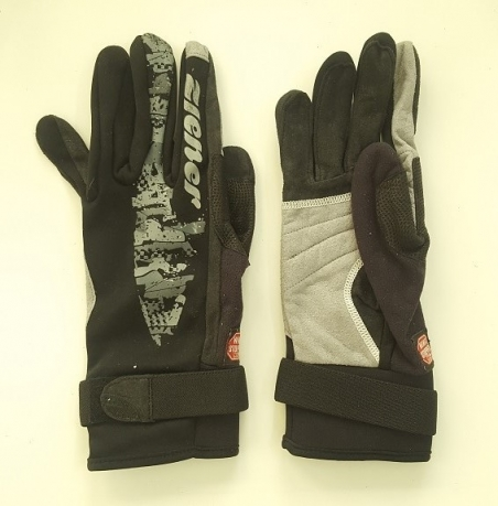 Черные перчатки от Ziener с серыми вставками