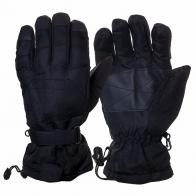 Черные перчатки для зимнего спорта (на флисе)