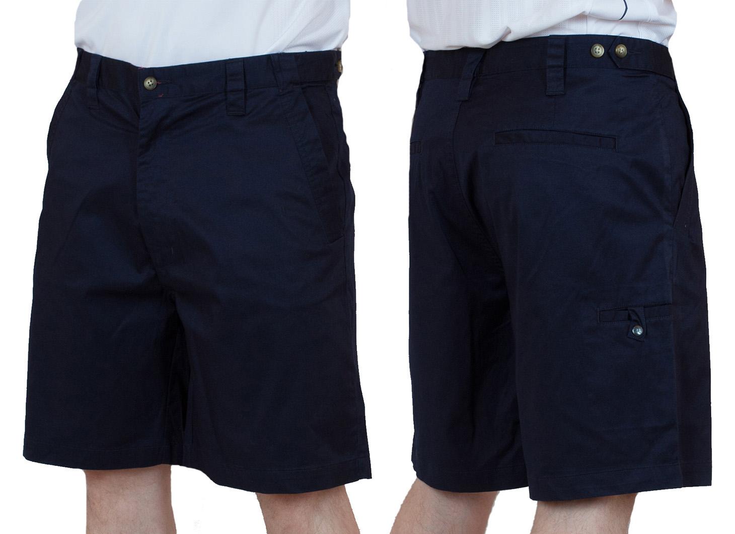 Заказать темно-синие хлопковые шорты для мужчин