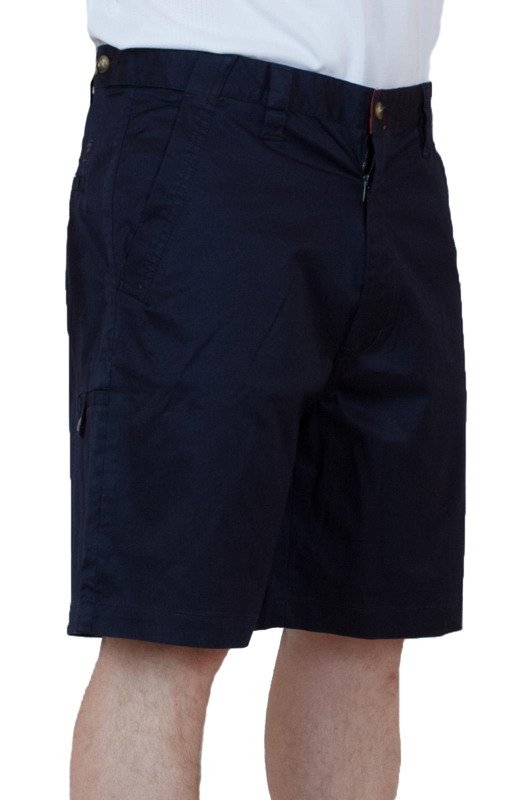 Темно-синие хлопковые шорты для мужчин - вид сбоку