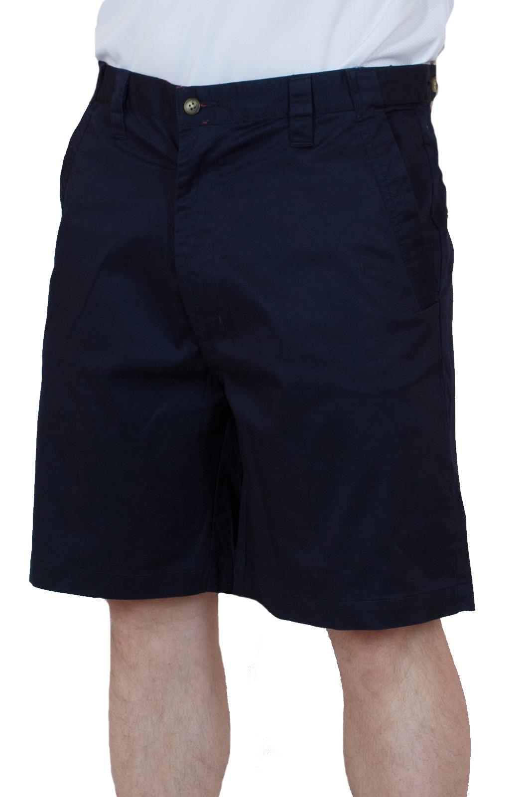 Темно-синие хлопковые шорты для мужчин