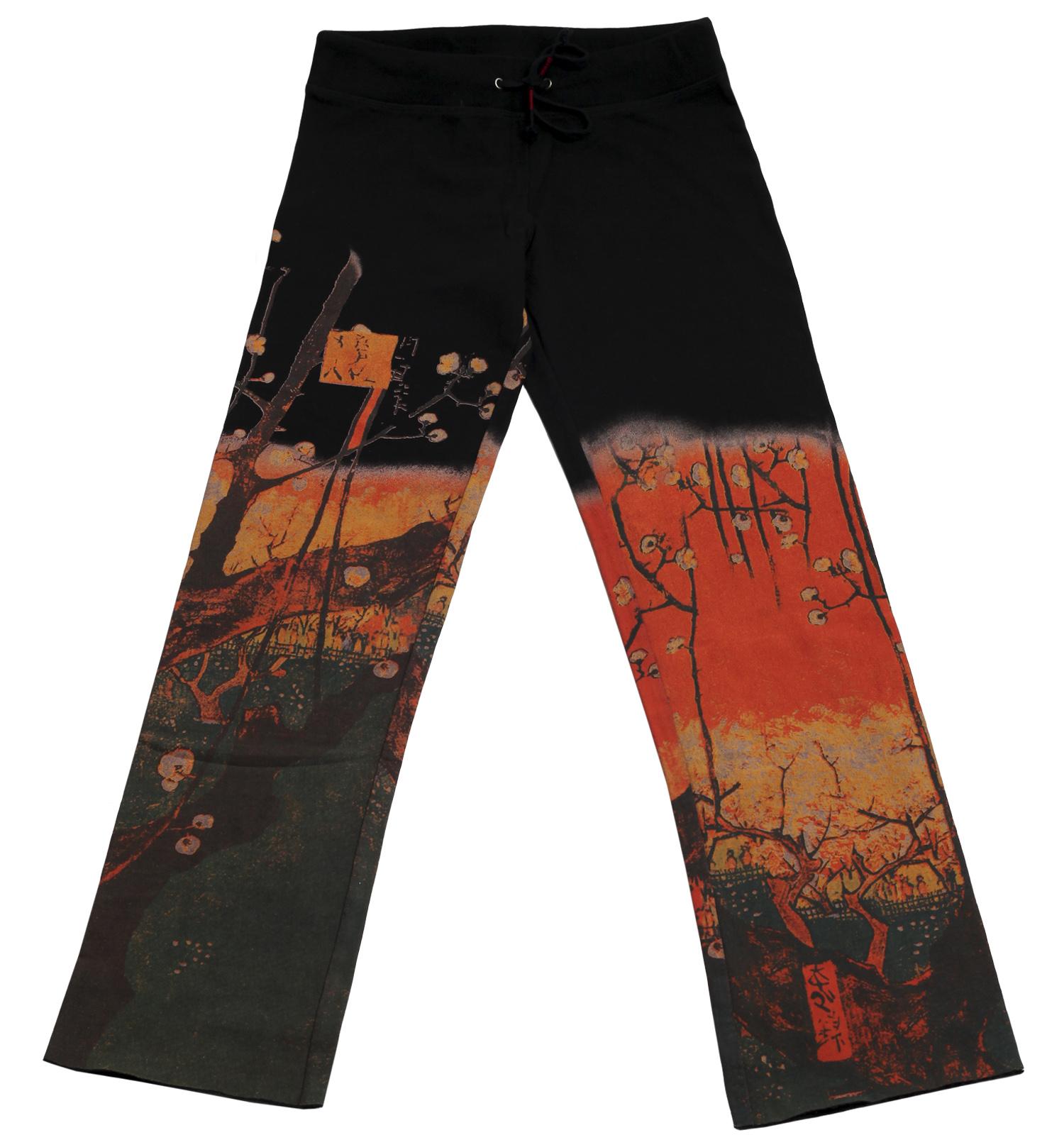 Черные штаны бренда Paparazzi с красочным китайским принтом