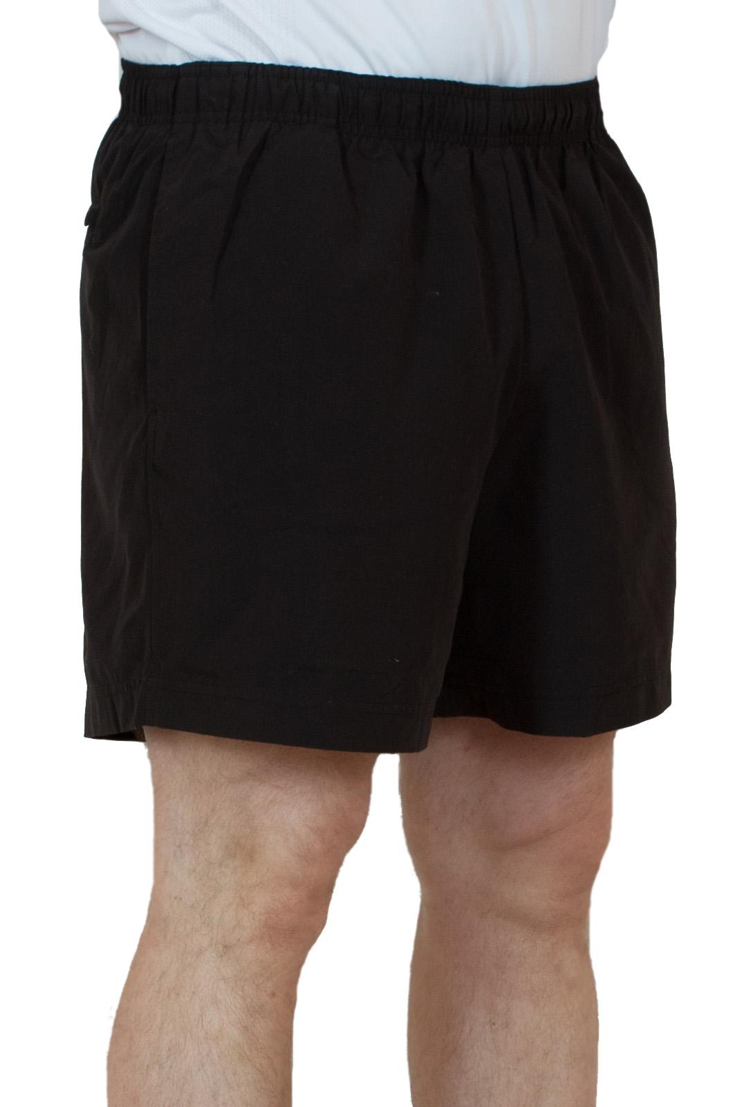 Черные теннисные мужские шорты - вид сбоку