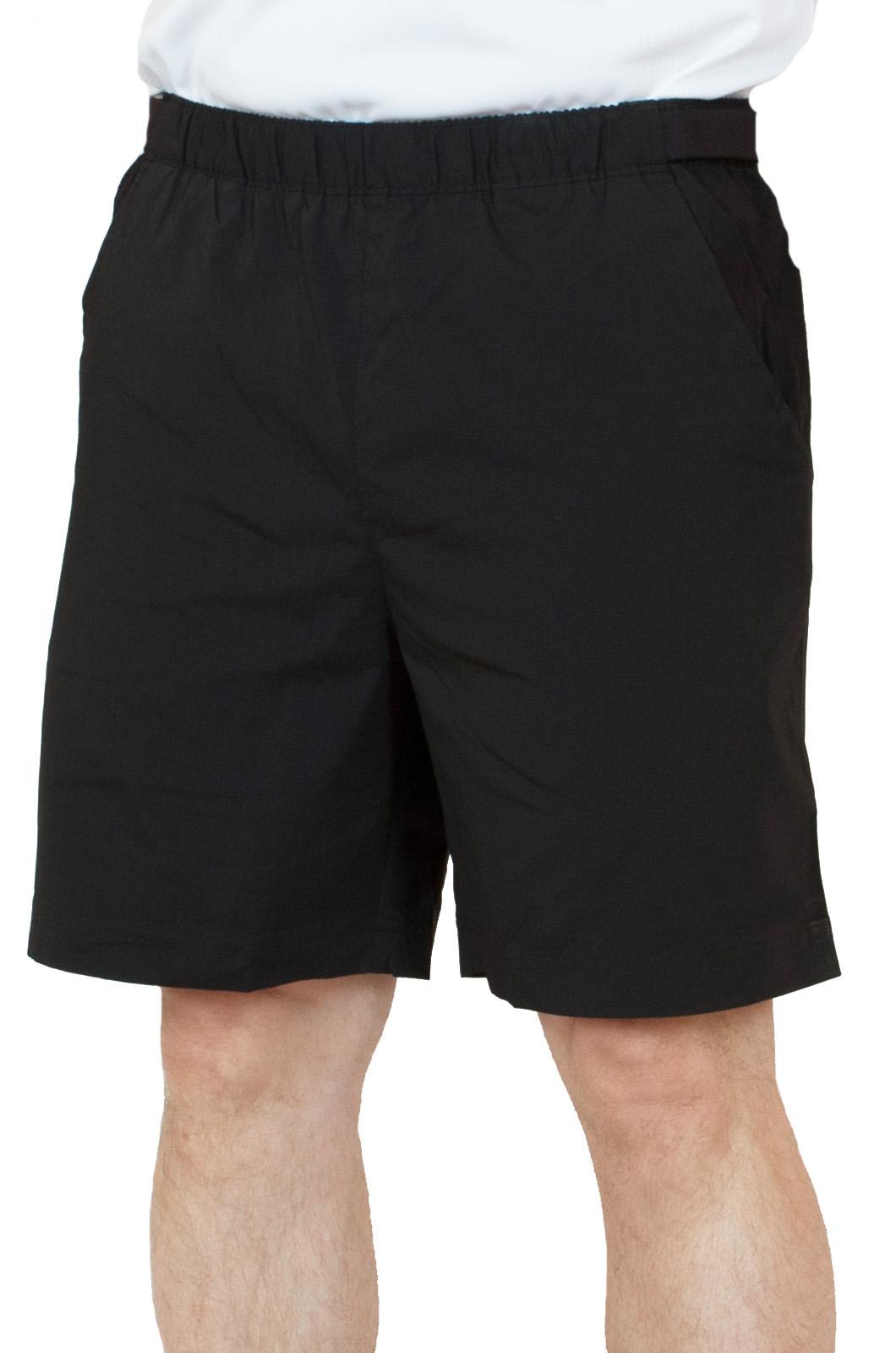 Черные спортивные шорты для мужчин - вид спереди