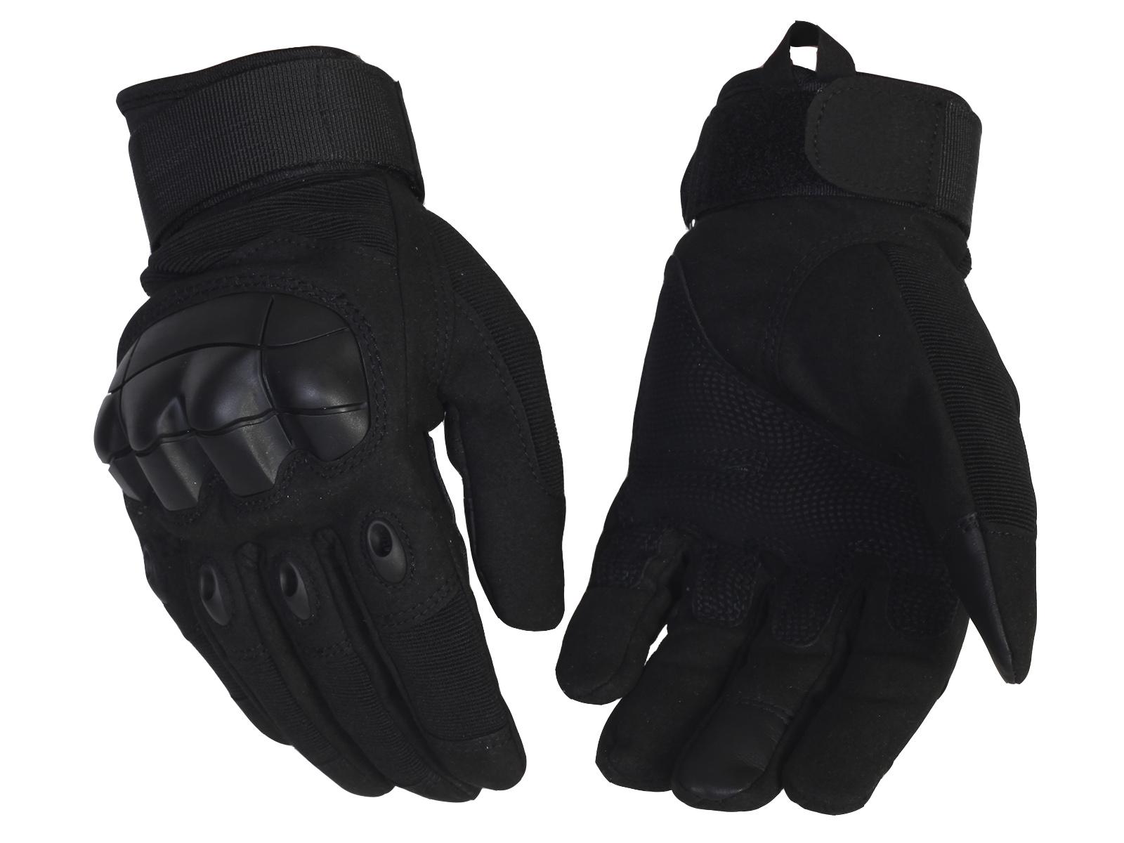 Черные тактические перчатки