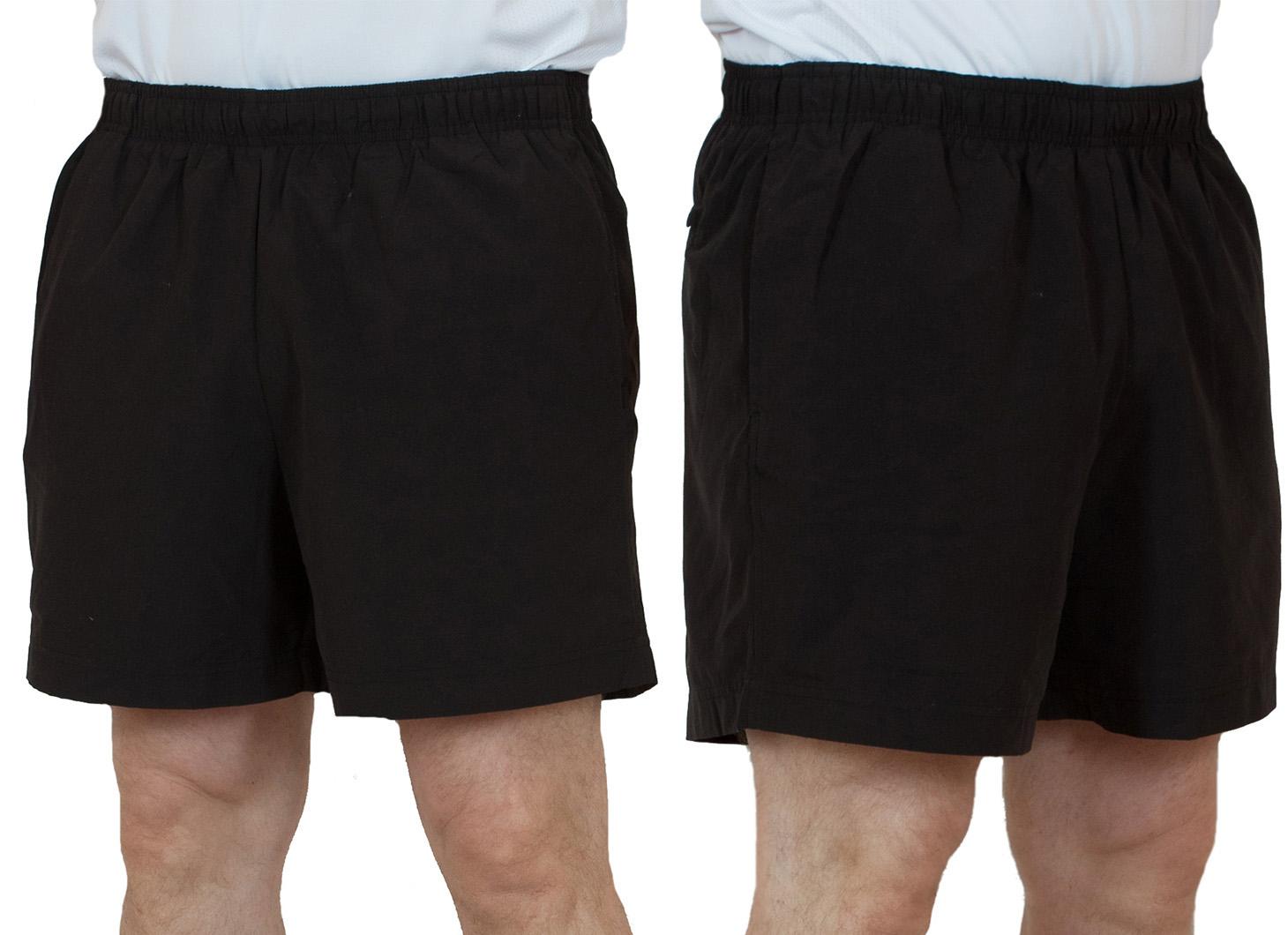 Черные теннисные мужские шорты - общий вид