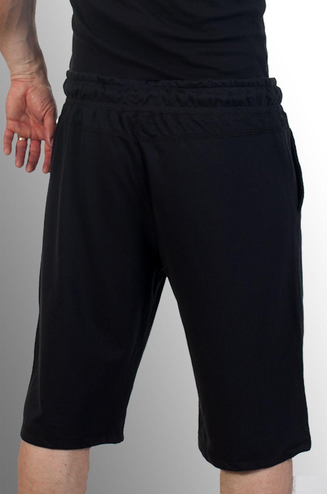 Купить чёрные трикотажные шорты