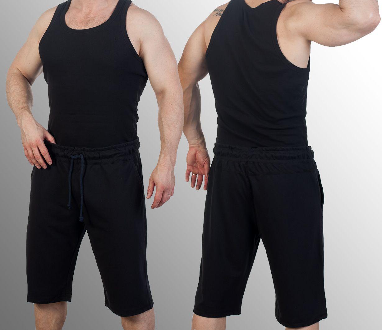 Чёрные трикотажные шорты по выгодной цене