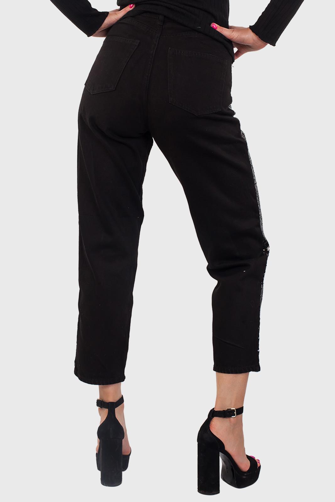 Черные женские брюки-джинсы от Monki (Швеция) оптом