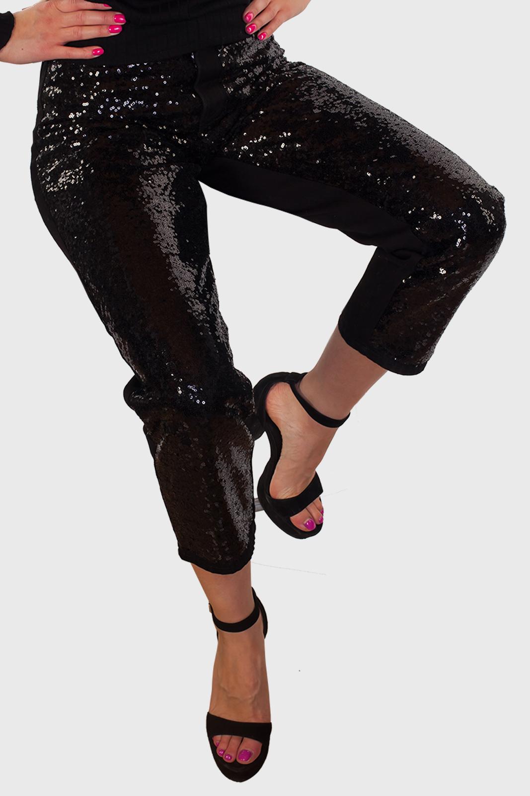 Черные женские брюки-джинсы от Monki (Швеция)