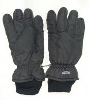 Черные зимние перчатки с манжетами
