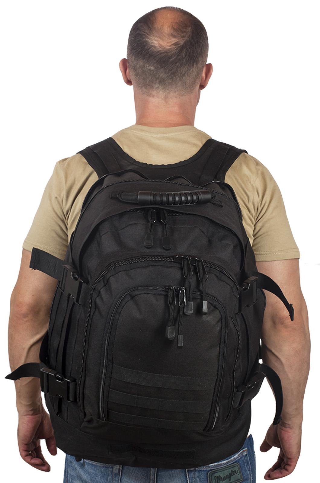 Купить черный армейский рюкзак 3-Day Expandable Backpack 08002A Black