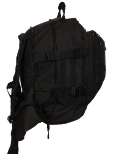 Черный армейский рюкзак 3-Day Expandable Backpack 08002A Black с эмблемой МВД оптом в Военпро