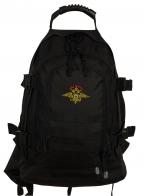 Черный армейский рюкзак с эмблемой МВД России