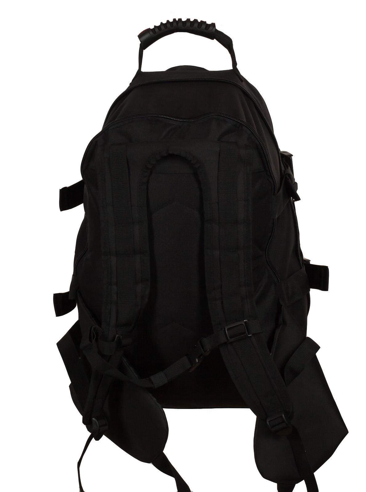 Черный армейский рюкзак с эмблемой МВД России купить по доступной цене