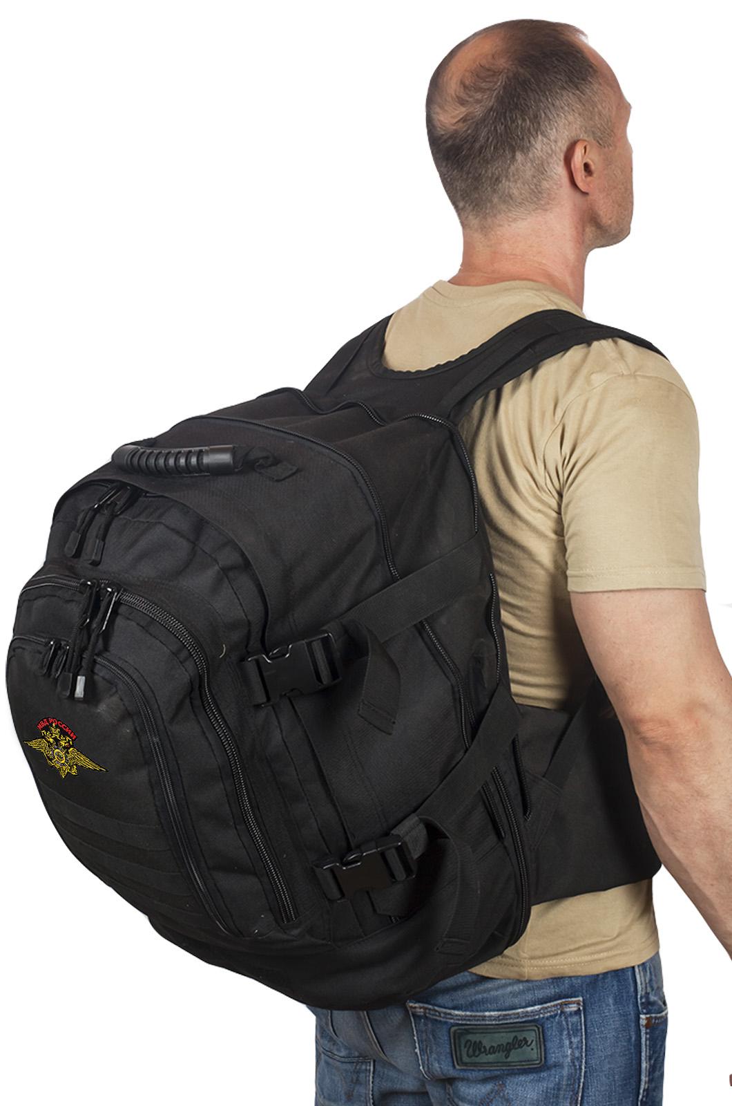 Черный армейский рюкзак с эмблемой МВД России купить онлайн